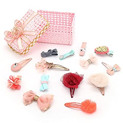 KimmyKu Baby Toddler Hair Clips Hair Bows Hair Accessories Barrettes Boutiques For Infant Little Girls