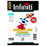 Infiniti A4 Blank White CD Label (100)