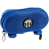 Abco Tech Portable Water Resistant Wireless FM Radio Bluetooth Speaker with Hands-Free Speakerphone and Storage, Blue