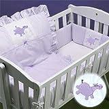 Lavender Hippo Cradle Bedding