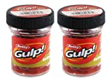 Berkley Gulp Extruded Earthworms - Red, Twin Pack 4 Inch