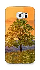 Amez designer printed 3d premium high quality back case cover for Samsung Galaxy S6 (Tree meadow flower)