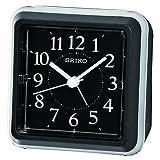 Seiko QHE090K Bedside Ascending Beep Alarm Clock, Black