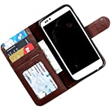 i-KitPit PU Leather Wallet Flip Case Cover For Nokia Lumia 720 (Brown)