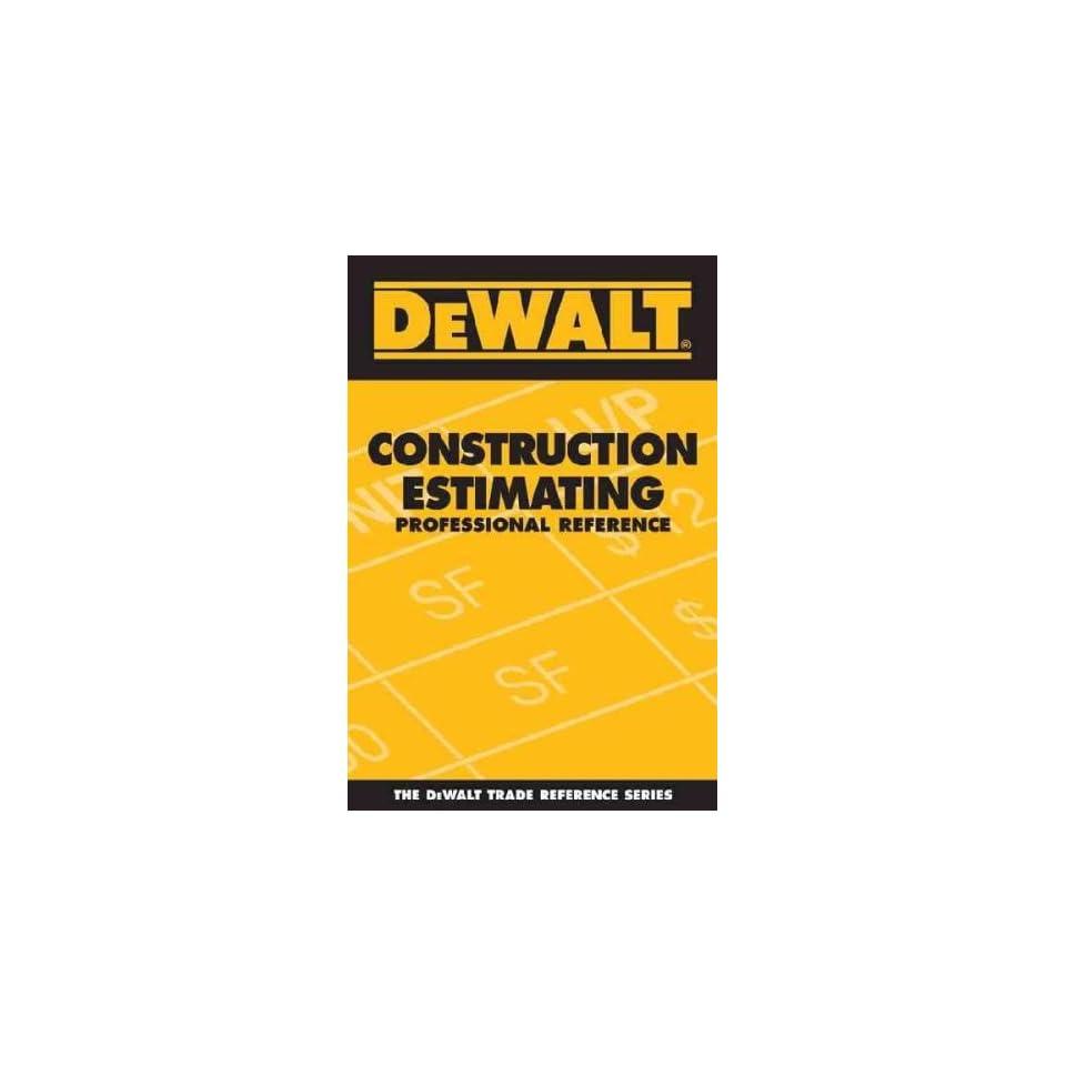 Dewalt Construction Estimating Adam Ding Books on PopScreen