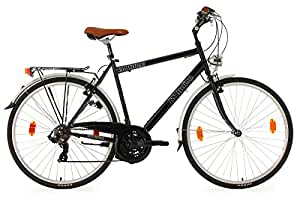 "KS Cycling Old Fellow Vélo VTC Homme Noir 28"""