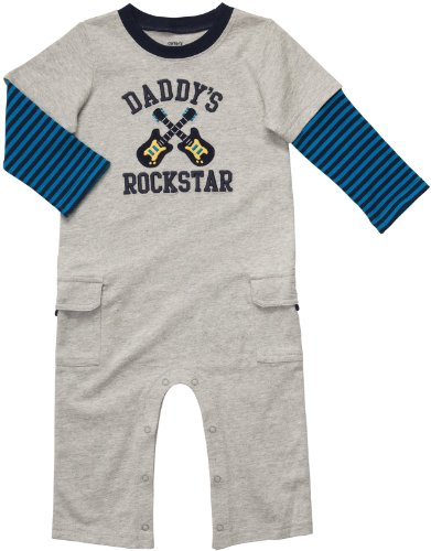 Carter'S Infant Long Sleeve One Piece Coverall - Daddy'S Rockstar-12 Months front-11898