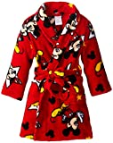 Disney Little Boys' Mickey Mouse Classic Print Bathrobe