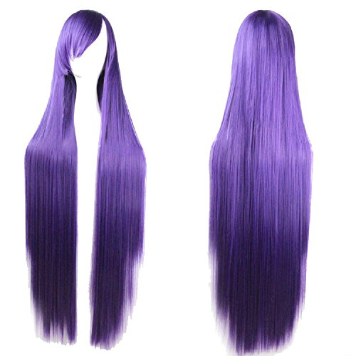 "D2C Beauty Women's 40"" 100cm Long Straight Anime Cosplay Hair Halloween Costume Wigs"