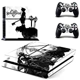 Junsi Kingdom Hearts Body Skin Sticker Decal for PS4 Playstation 4 Console+Controllers