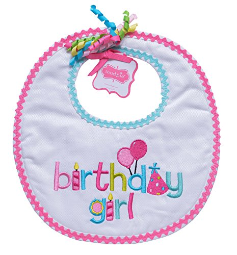 Mud Pie Baby-Girls Newborn Birthday Girl Bib, Multi, One Size