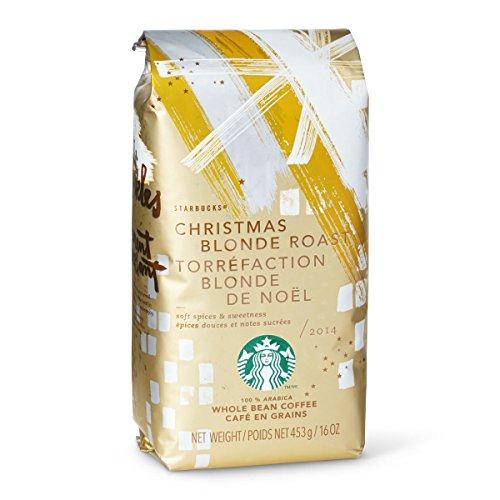 2014 Starbucks Christmas Blend Whole Bean Coffee - 1 Lb (16Oz, 453G) (Christmas Blend Blonde Roast)
