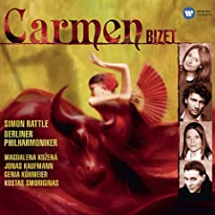 """Carmen, Act 1: """"Mais nous ne voyons pas la Carmencita!"""" """"Quand je vous aimerai?"""" (Jeunes gens, Dragons, Cigari�res, Carmen)"""