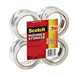 Scotch Long Lasting Storage Packaging Tape, 1.88 Inches x 54.6 Yards, 4 Rolls (3650-4)