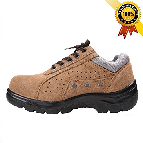 Mildness New Fashionable & Multifunction Safety Work Shoes (9, Brown) (Insulated Work Shoes For Men compare prices)
