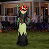 8.9 Ft Tall Large Fire & Ice Lighted Jack O Lantern Pumpkin Man Airblown Inflatable Halloween Creepy Scary Decor Haunted House Prop Outdoor Yard Decoration