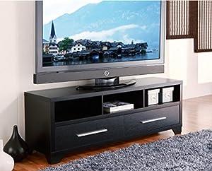 Amazon.com: Modern 60-inch Flat Screen TV Stand in Black Finish - Add