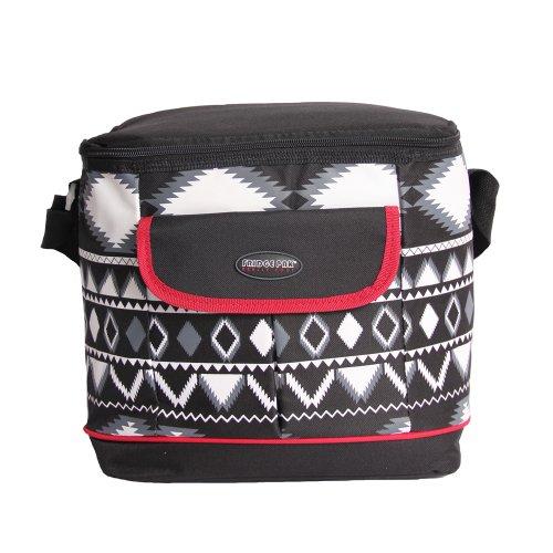 Fridge Pak Insulated Cooler Bag - Black And White Diamond Print front-380460