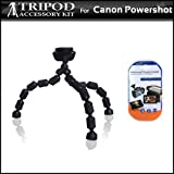 Gripster Tripod Kit For Canon PowerShot S95, SD4000 IS Digital Camera Includes Gripster Flexible Tripod + LCD Screen Protectors