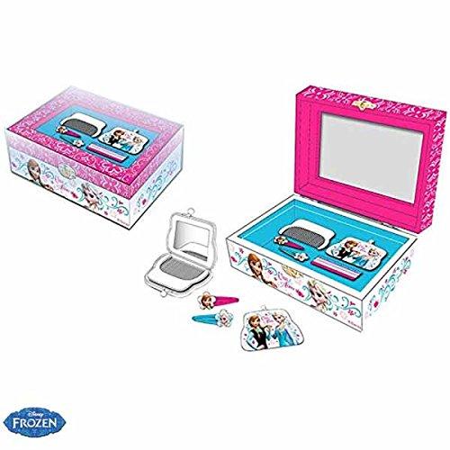 Cofanetto Portagioie Accessori Per Capelli Disney Frozen Anna e Elsa Bambine