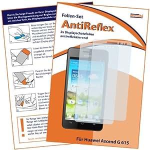 2 x mumbi Displayschutzfolie Huawei Ascend G 615 Schutzfolie AntiReflex antireflektierend