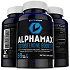Alphamax Testosterone Booster - 100% Natural Supplement for Men - Includes FREE Testosterone Boosting Ebook - Safely Boost Natural Production to Increase Low Testosterone Levels - Energizes Body