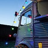 30er LED Party Lichterkette bunt Innen Au�en