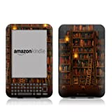 "Kindle Keyboard Skin - Library Bookshelves - High quality precision engineered removable adhesive vinyl skin for the 3G + Wi-Fi 6"" E Ink Display Kindle 3by DecalGirl"
