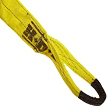Liftex EE Polyester Web Sling, Eye-and-Eye, Yellow, 2 Ply, Vertical Load Capacity