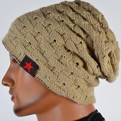 Men Reversible Slouchy Beanie Hat Unisex Skull Hat from FANNY