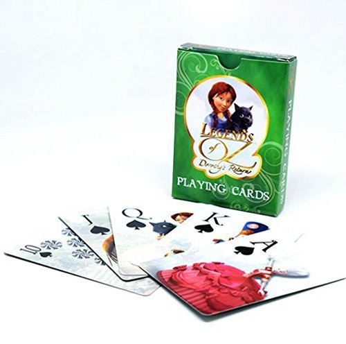 """Legends of Oz"" Movie Characters - 52 Card Poker Deck with Jokers-Legends Of Oz Playing Cards For Kids, Standard Game Cards, Fun Playing Deck Of Cards With Oz Characters."