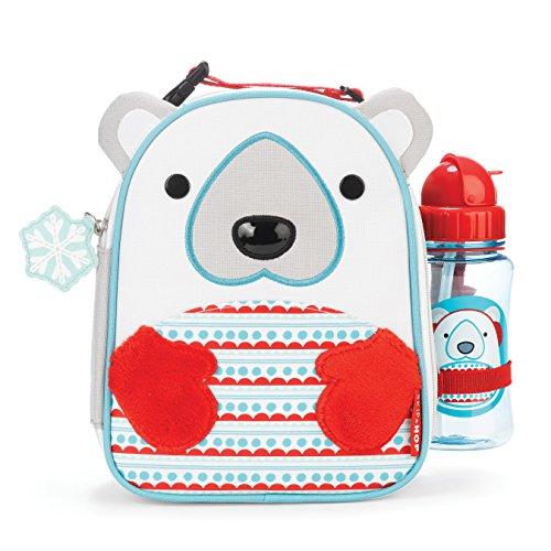 SKIP HOP Zoo 动物园系列 儿童午餐包+水壶 北极熊款 $15+$5.4(直邮到手约¥130)图片