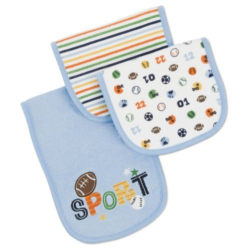 Gerber Terry Burp Cloth - Sport - 3 Pack front-23380
