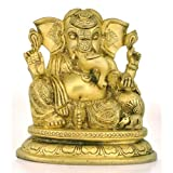 "Redbag Brass Siddhi Vinayak Blessing Ganpati Figure Vighnaharta Ganesha Statue 3399 ( 5.75""H X 5.50""W X 3.75""D..."