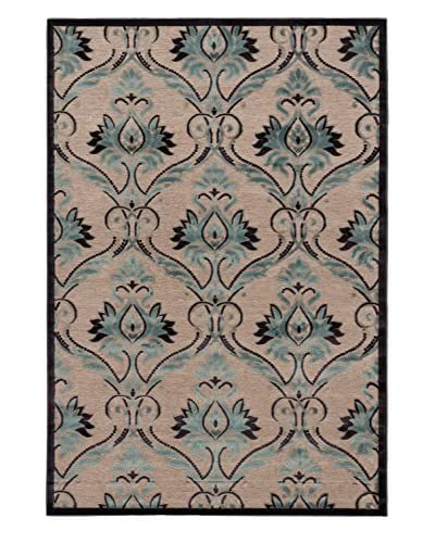"Alhambra Rug, Dark Navy/Light Grey/Turquoise, 5' 3"" x 7' 6"""