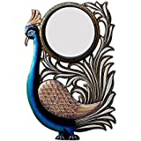 Divraya Wood Peacock Wall Mirror (30.48 Cm X 4 Cm X 45.72 Cm, DA135)