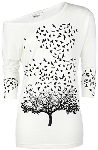 Innocent Crow Heart Manica lunga donna bianco XL