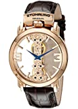 Stuhrling Original Men's 165E.3345K14 Classic Winchester Spire Mechanical Skeleton Rose Tone Watch