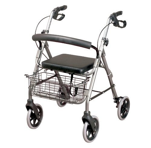 Homecraft Four Wheeled Cable Brakes Rollator - Quartz