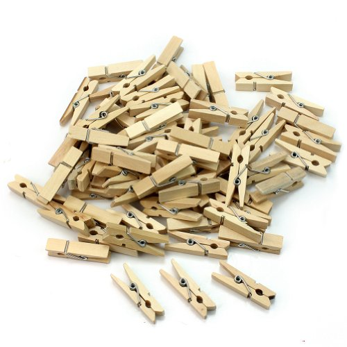 100 Pcs Useful Mini Wooden Clothes Photo Paper Peg Clothespin Craft DIY Clips (Wooden Ship Pictures compare prices)