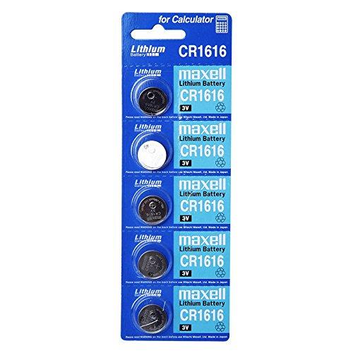Maxell Batterie au lithium CR1616 3 V 1 Lot X (5) = 5 Piles à usage unique