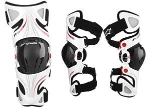 Alpinestars Fluid Pro Knee Brace Set - Sm Lg , Size: Sm-Lg, Distinct Name: White,... by Alpinestars