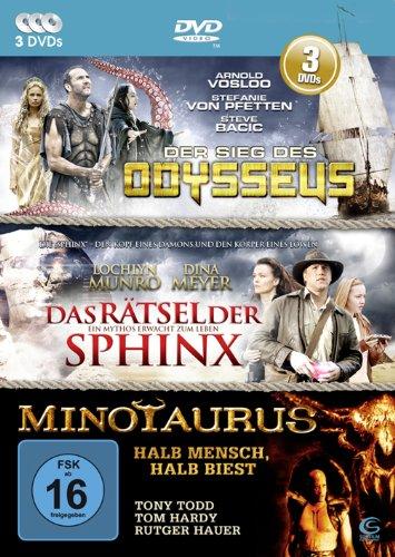 Die Mystery-Abenteuer-Box - 3 Abenteuerfilme in einer Box: Der Sieg des Odysseus, Minotaurus, Das Rätsel der Sphinx [3 DVDs]