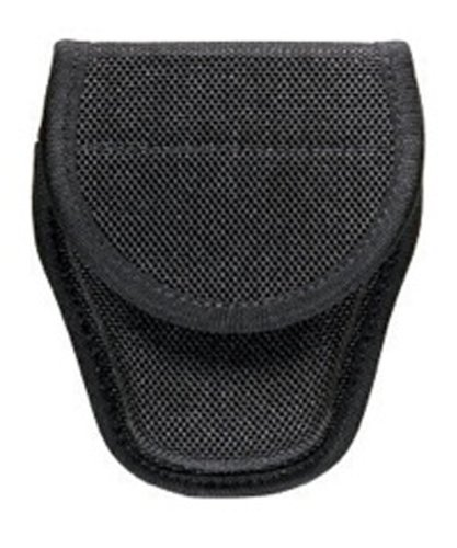 Bianchi Accumold 7300 Covered Black Handcuff Case with Hidden Snap (Size 3)