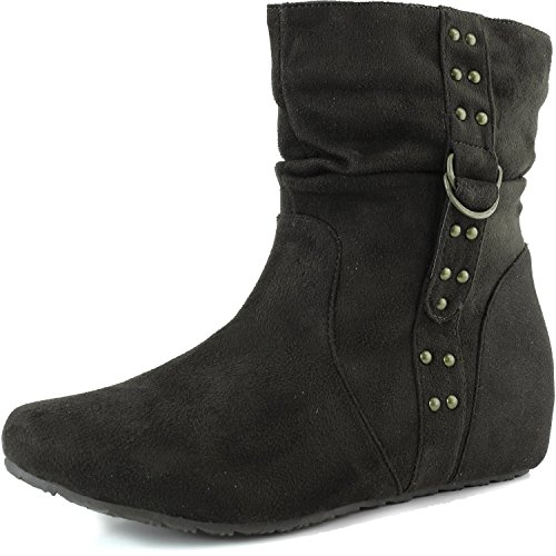 Women's Top Moda Anne-2 Flat Suede Ankle Boots Fashion Shoes