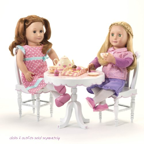 "Our Generation Tea Parlor Table And Chairs For 18"" Dolls front-908052"
