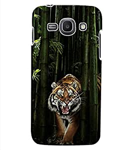 ColourCraft Roaring Tiger Design Back Case Cover for SAMSUNG GALAXY ACE 3 3G S7270