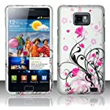 Pink Flowers Hard Snap On Case Cover Faceplate Protector for Samsung Galaxy S II i9100 i9200 i777 AT&T