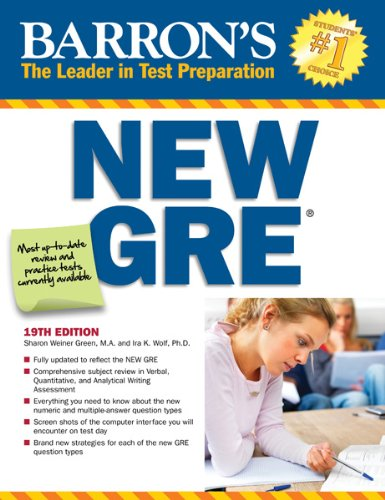 Sharon Weiner Green M.A. - New GRE, 19th Edition (Barron's GRE)