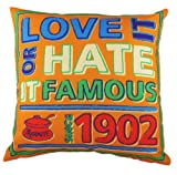 Evans Lichfield 17-inch K/E Marmite Since 1902 Cushion, Orange
